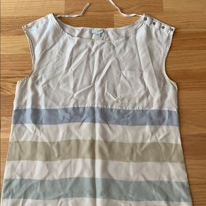 Anthropologie Odille silk striped shift dress